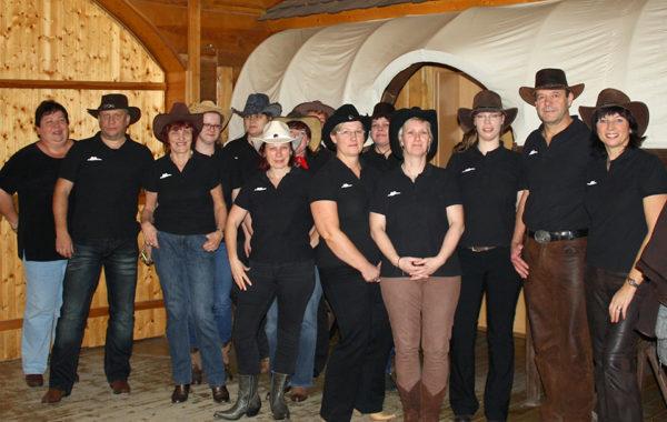 LineDance Auftritt auf der Reinert Ranch